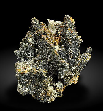Willemite after Descloizite with Mimetite. Front