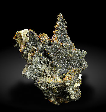 Willemite after Descloizite with Mimetite. Side