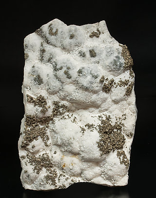 Pyrite with Calcite-Dolomite. Front