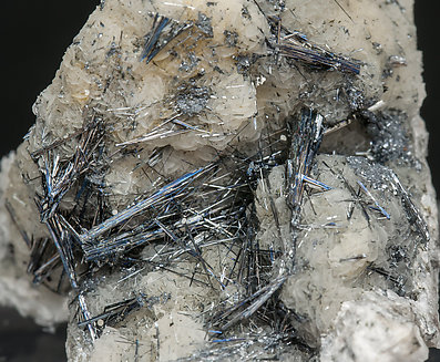 Stibnite on Quartz.