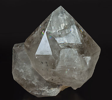 Quartz with inclusions and Fluorite. Front