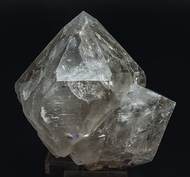 Quartz with inclusions and Fluorite. Rear