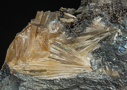 Valentinite with Stibnite.
