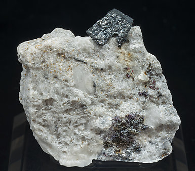 Acanthite with Proustite.