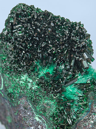 Atacamite with Brochantite on Cuprite.