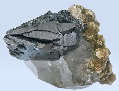 Ferberite with Quartz and Muscovite. Top