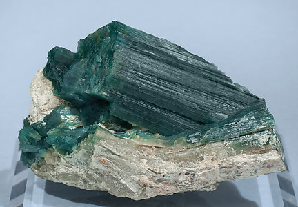 Grandidierite with Feldspar and Quartz. Front