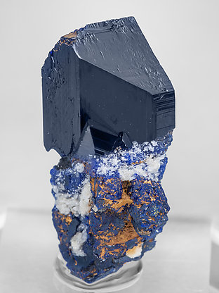 Azurite with Cerusite.