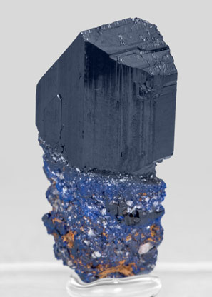 Azurite with Cerusite. Rear