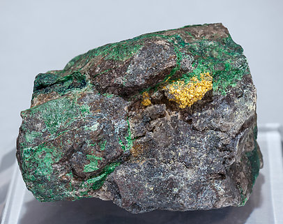 Gold with Malachite.