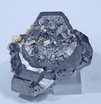 Galena with Calcite, Quartz and Chalcopyrite.
