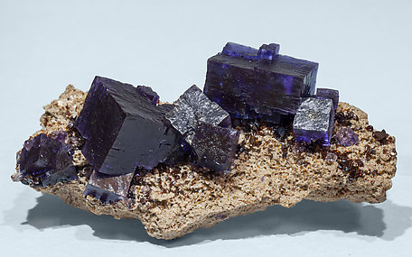 Fluorite with Sphalerite and Calcite. Front