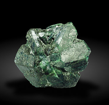 Chrysobeyl (variety alexandrite) with Phlogopite. Front - Fluorescent light (day light)