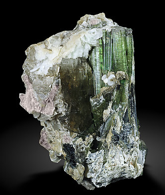 Elbaite with Mica and Quartz. Front