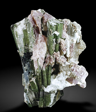 Elbaite with Mica and Quartz. Rear