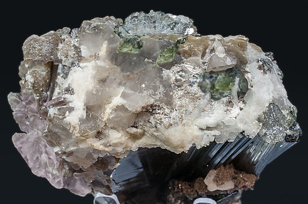 Elbaite with Mica and Quartz. Top
