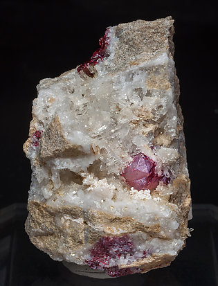 Cinnabar with Quartz.