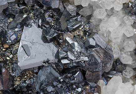 Tetrahedrite with Quartz and Pyrite.