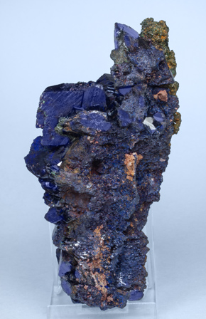 Azurite with Malachite xx. Rear