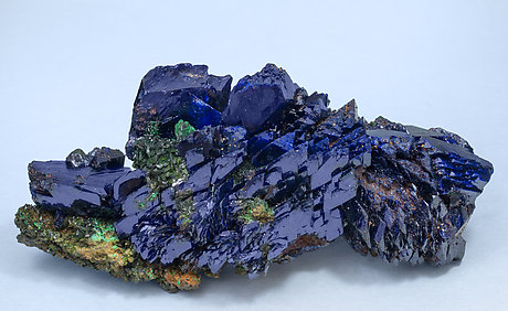 Azurite with Malachite xx. Side