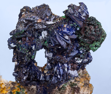 Azurite with Malachite xx.
