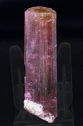 Elbaite (variety rubellite) with Mica and Feldspar.