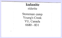 Kulanite with Siderite