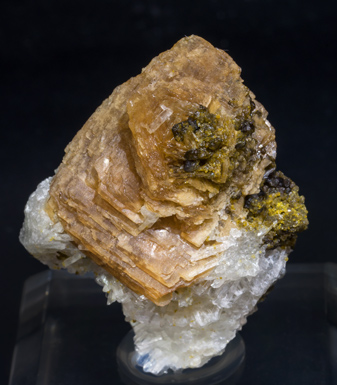 Roweite with Olshanskyite and Andradite. Front