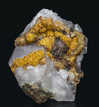 Siderite with Quartz (variety amethyst).