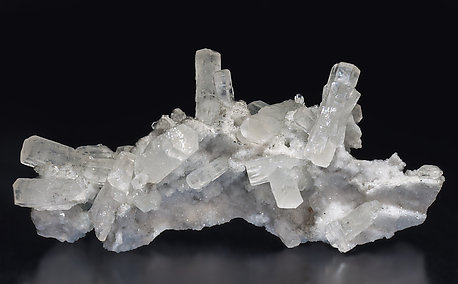 Strontianite with Quartz.