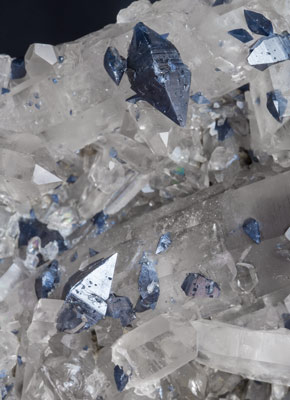 Anatase with Quartz (variety smoky).