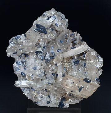 Anatase with Quartz (variety smoky). Side