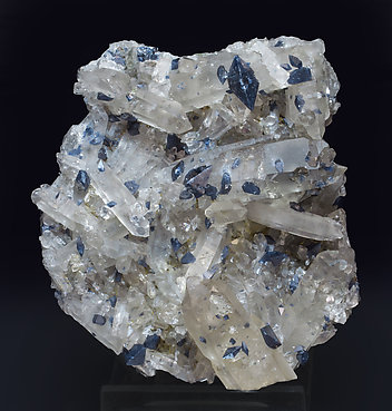 Anatase with Quartz (variety smoky). Front