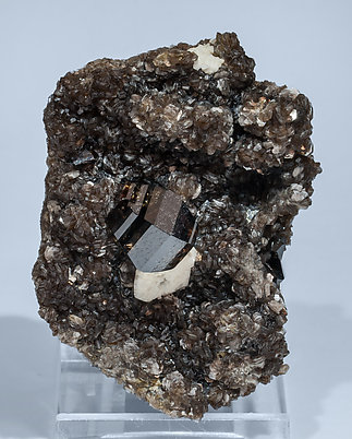 Cassiterite with Feldspar and Muscovite. Side