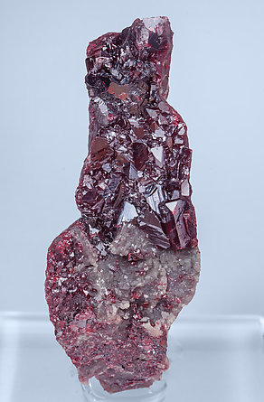 Cinnabar with Calcite and Mercury.