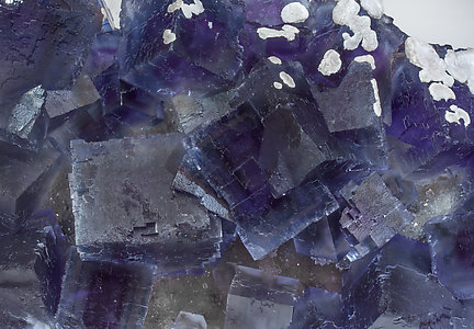 Fluorite with Quartz and Calcite.