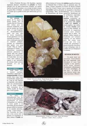 Tantalite-(Mn) on Lepidolite after Elbaite.