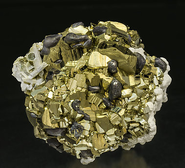 Pyrite with Galena, Calcite and Quartz.