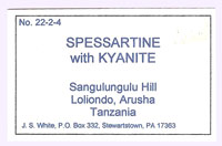 Spessartine with Kyanite and Muscovite