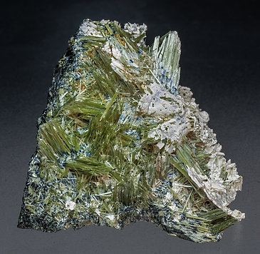 Actinolite with Ferro-actinolite and Prehnite.
