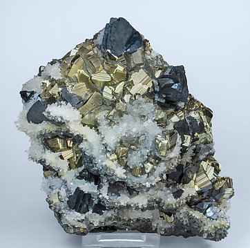 Pyrite with Sphalerite and Quartz.