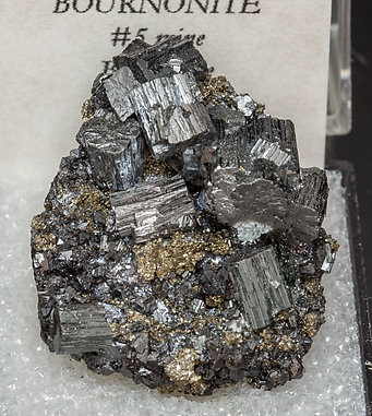 Bournonite with Pyrite.