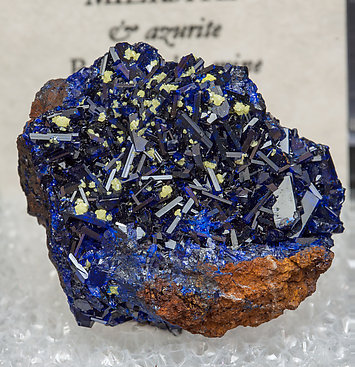 Miersite with Azurite.