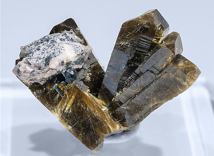 Xenotime-(Y) with Rutile inclusions. Rear