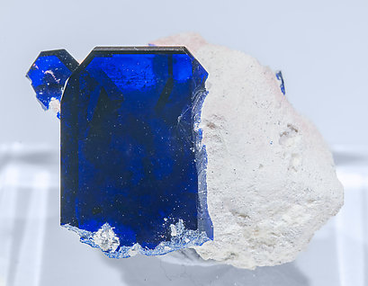 Azurite. Light behind