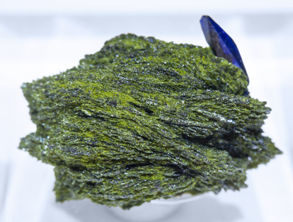 Volborthite with Azurite. Top