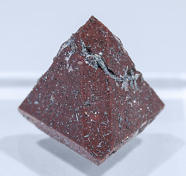 Zunyite with Hematite. Rear