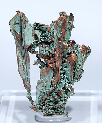 Copper with Malachite. Front