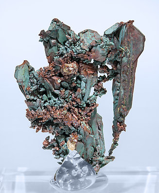 Copper with Malachite. Rear