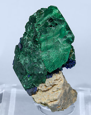 Malachite after Azurite and Azurite.